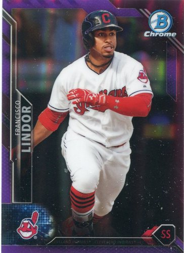 Photo of 2016 Bowman Chrome Purple Refractors #32 Francisco Lindor