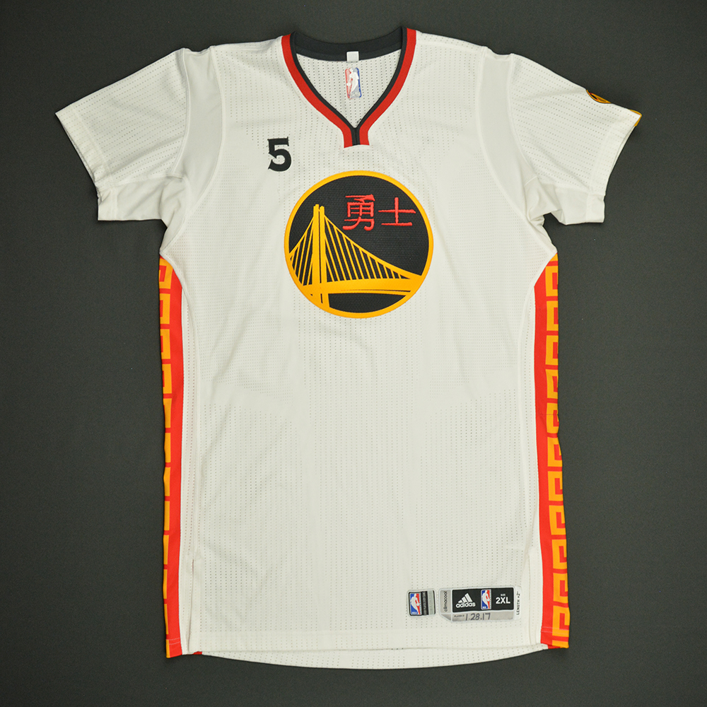 Kevon Looney - Golden State Warriors - Game-Issued Chinese New Year Jersey - 2016-17 Season