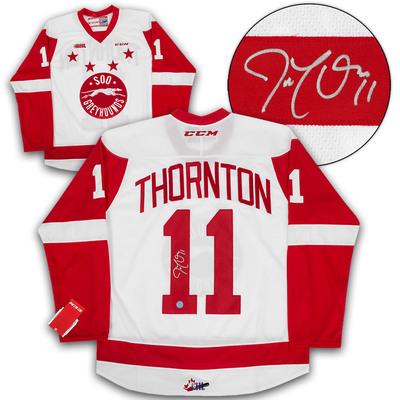 Joe Thornton Sault Ste. Greyhounds Autographed CHL CCM Premier Hockey Jersey