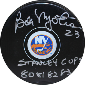 Bob Nystrom Signed New York Islanders Autograph Puck w/