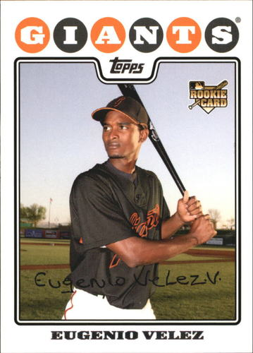 Photo of 2008 Topps #291 Eugenio Velez RC