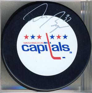Don Beaupre Washington Capitals Autographed Hokey Puck