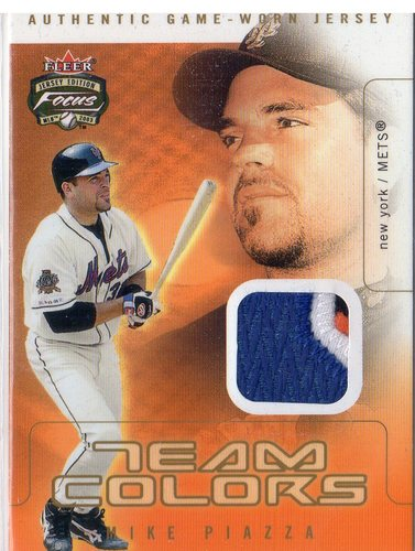 Photo of 2003 Fleer Focus JE Team Colors Game Jersey Multi Color #MP Mike Piazza