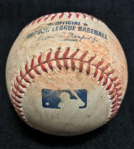 Photo of Game-Used Baseball from Pirates vs. Mariners on 7/26/16 - Caminero to Cruz, Single