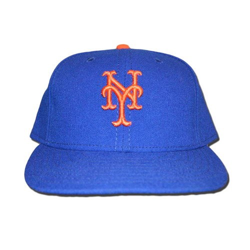 Photo of Michael Conforto #30 - Game Used Blue Hat - Mets Clinch Playoff Berth - Mets vs. Phillies - 10/1/16