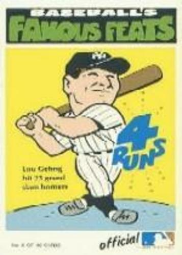 Photo of 1972 Fleer Famous Feats #5 Lou Gehrig