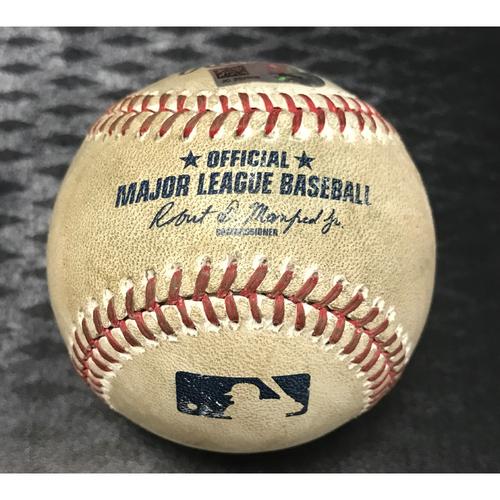 Photo of Game-Used Baseball - Jake Lamb vs. Trevor Bauer - Foul