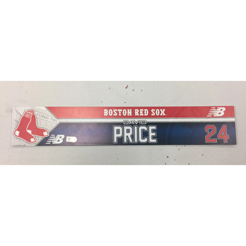 Photo of David Price June 19, 2016 Game-Used Locker Tag