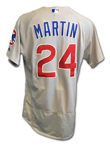 Leonys Martin Game-Used Jersey -- Cubs Clinch 2017 NL Central Division -- Cubs at Cardinals -- 9/27/17