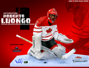 ROBERTO LUONGO Signed Base 12 inch McFarlane - Team Canada