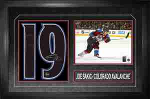 Joe Sakic - Signed & Framed Number Collage - Coloardo Avalanche