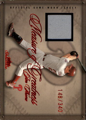 Photo of 2005 Fleer Showcase Measure of Greatness Jersey Red #JT Jim Thome