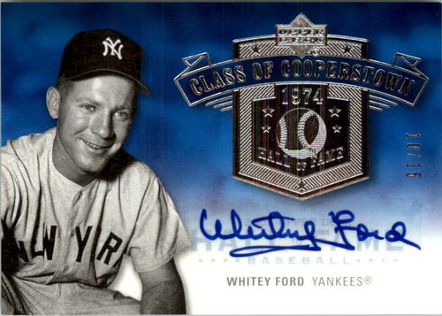 Photo of 2005 Upper Deck Hall of Fame Class of Cooperstown Autograph Silver #WF2 Whitey Ford Portrait