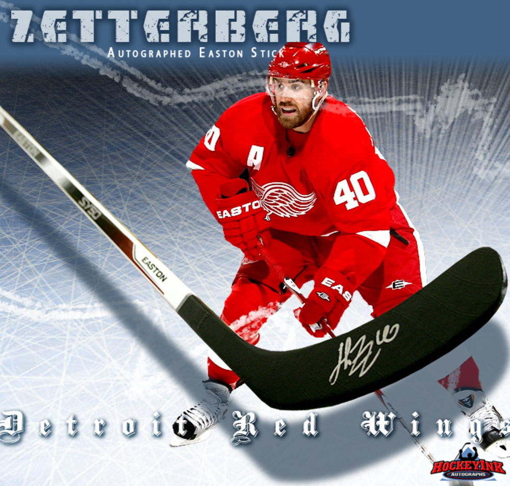 HENRIK ZETTERBERG Signed Easton Model Stick - Detroit Red Wings