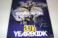 CHARGERS - BRANDON MEBANE SIGNED 2016 CHARGERS YEARBOOK