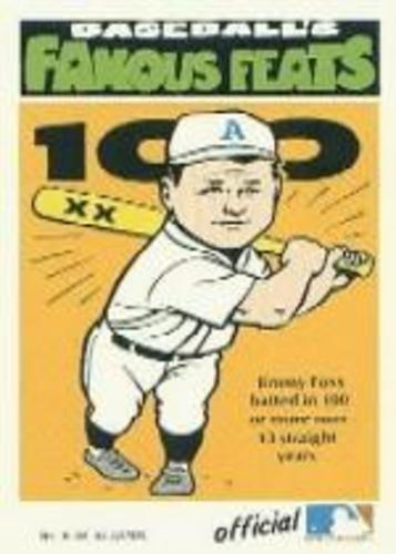 Photo of 1972 Fleer Famous Feats #16 Jimmie Foxx