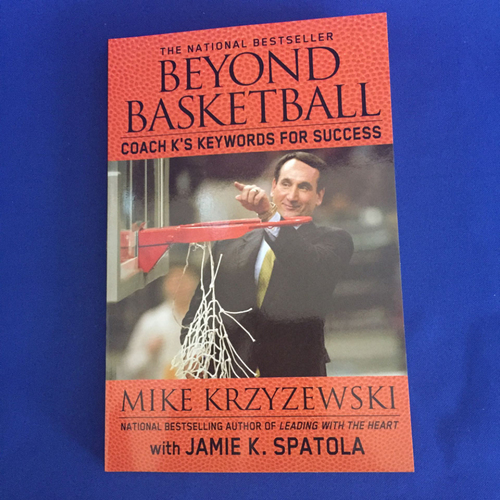 Photo of UMPS CARE AUCTION: Beyond Basketball Book Autographed By Coach K