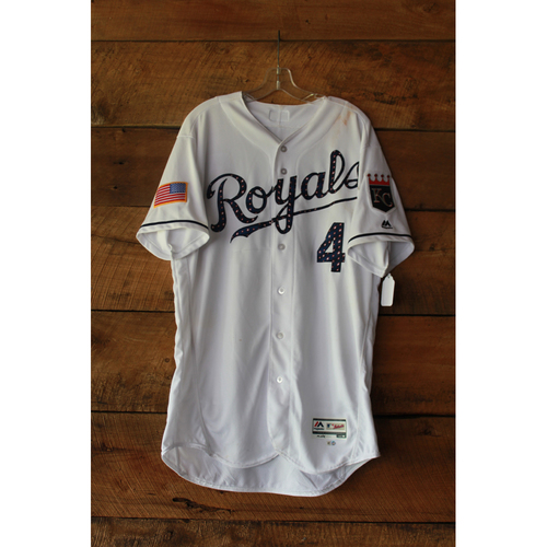 Photo of Alex Gordon Game-Used Jersey (7/1/17 MIN at KC) (Size 46)