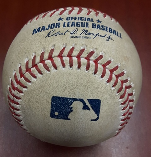 Photo of Authenticated Player Collected Baseball - Norichika Aoki Home Run (August 27, 2017)