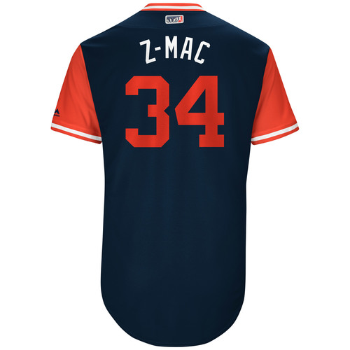"Photo of Zach ""Z-Mac"" McAllister Cleveland Indians Game-Used Players Weekend Jersey"