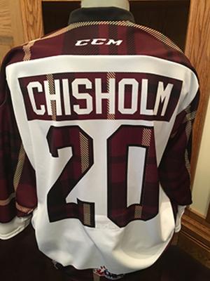 Declan Chisholm (#20) - Game-Worn #PetesPlaidNight Jersey