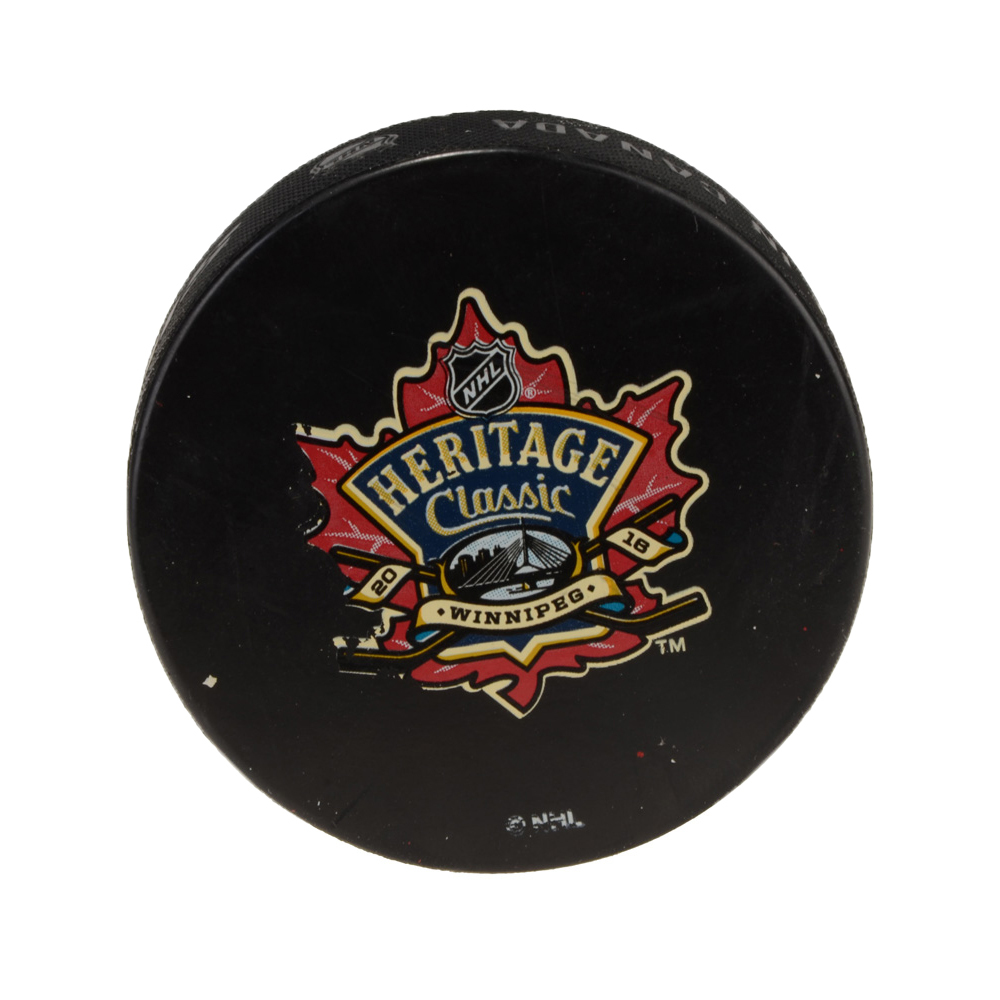 Edmonton Oilers 2016 Heritage Classic Practice-Used Puck - Used During October 22, 2016 Practice Session