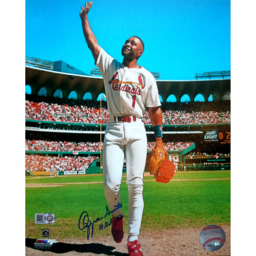 Cardinals Authentics: Ozzie Smith Autographed Photo
