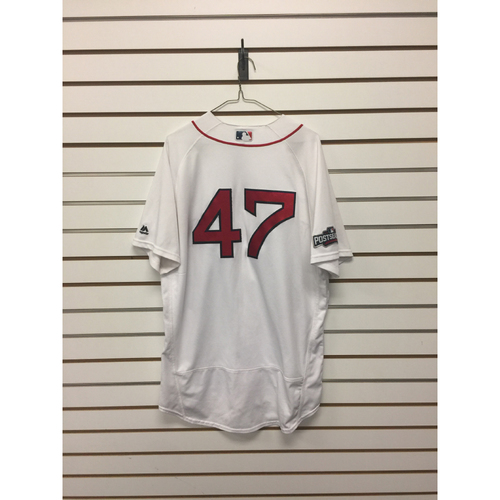 Photo of Travis Shaw Game-Used October 10, 2016 Home Jersey - ALDS Game 3