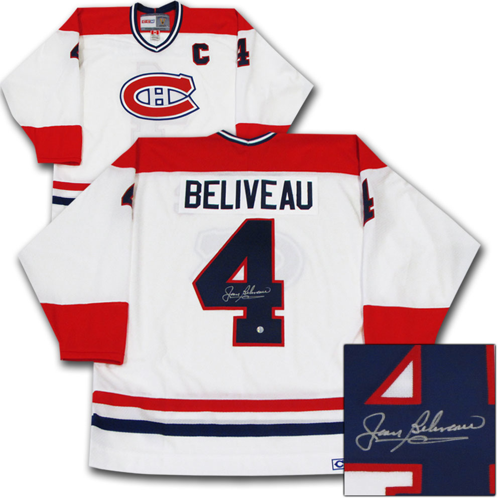 Jean Beliveau Autographed Montreal Canadiens Jersey