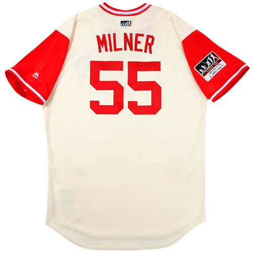 "Photo of Hoby ""Milner"" Milner Philadelphia Phillies Game-Used Players Weekend Jersey"