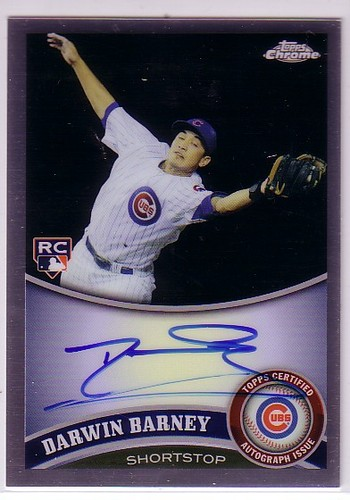 Photo of 2011 Topps Chrome Rookie Autographs Refractors #193 Darwin Barney