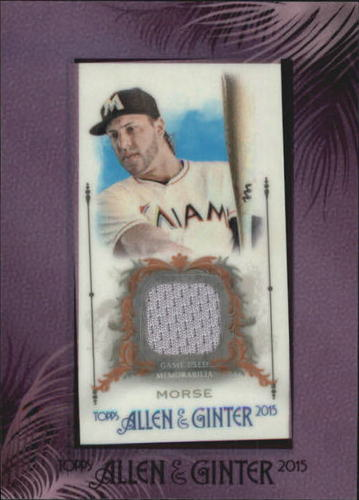 Photo of 2015 Topps Allen and Ginter Framed Mini Relics #FMRMMR Michael Morse