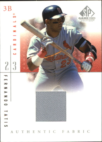 Photo of 2001 SP Game Used Edition Authentic Fabric #FTA Fernando Tatis