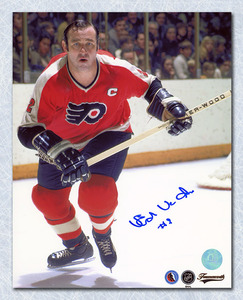 Ed Van Impe Philadelphia Flyers Autographed Captian 8x10 Photo