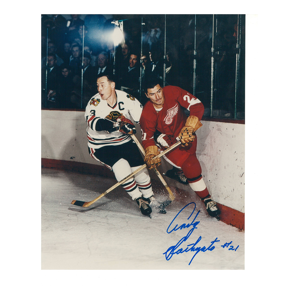 ANDY BATHGATE Signed Detroit Red Wings 8 X 10 Photo - 70047