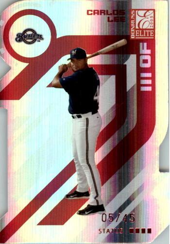 Photo of 2005 Donruss Elite Status #41 Carlos Lee/45