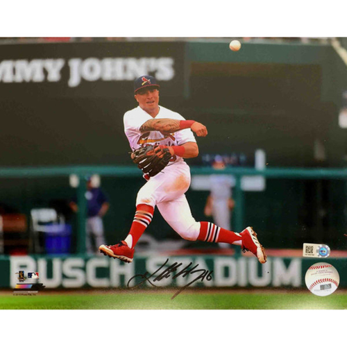 Photo of Cardinals Authentics: Kolten Wong Autographed Throwing Photo