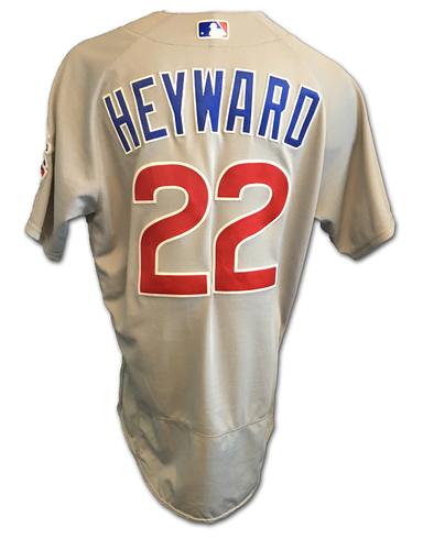 Jason Heyward Game-Used Jersey -- Heyward 1 for 4 -- Cubs Clinch 2017 NL Central Division -- Cubs at Cardinals -- 9/27/17