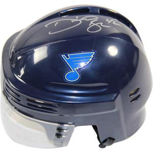 David Backes Signed St. Louis Blues Blue Replica Mini Helmet + FREE GIFT!