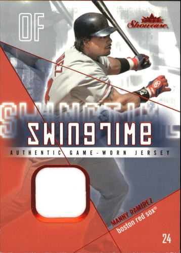 Photo of 2005 Fleer Showcase Swing Time Jersey Red #MR Manny Ramirez