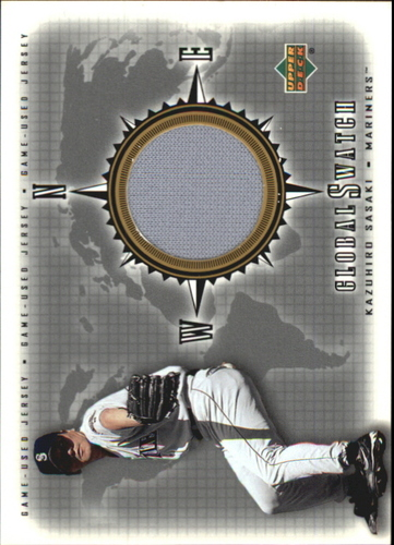 Photo of 2002 Upper Deck Global Swatch Game Jersey #GSKS Kazuhiro Sasaki