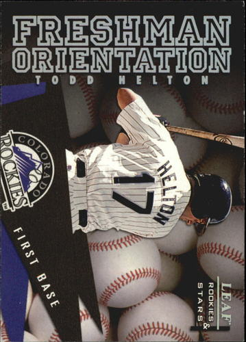 Photo of 1998 Leaf Rookies and Stars Freshman Orientation #1 Todd Helton