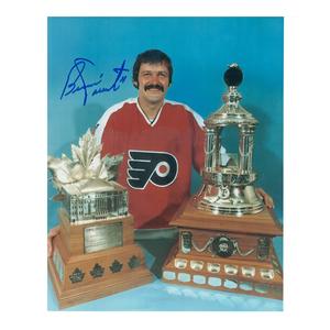 BERNIE PARENT Signed Philadelphia Flyers Trophy 8 X 10 Photo - 70048