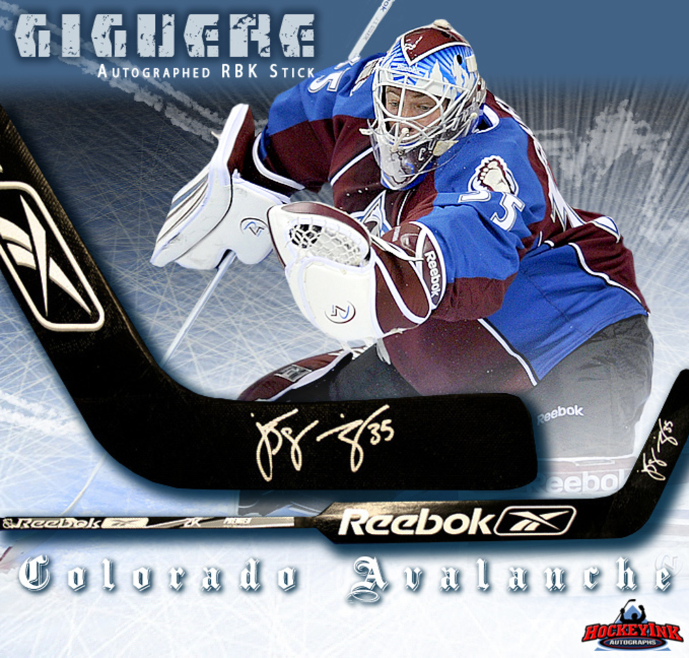 J. S. GIGUERE Signed Colorado Avalanche RBK Goalie Stick