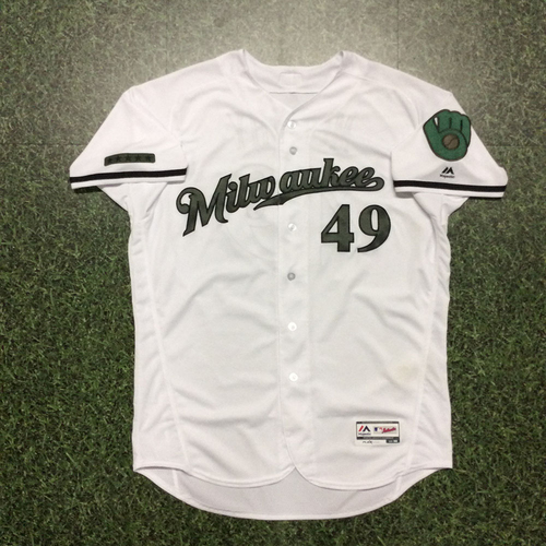 Photo of Pat Murphy Memorial Day Tribute Game-Used Jersey
