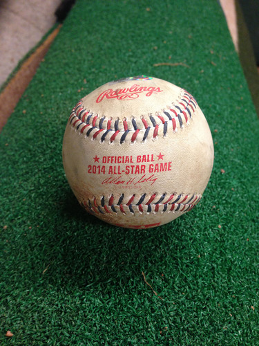 2014 MLB All-Star Game: Troy Tulowitzki Game-Used Double Off of Max Scherzer, Top of the 5th Inning