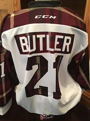 Cam Butler (#21) - Game-Worn #PetesPlaidNight Jersey