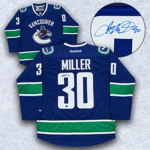 Ryan Miller Vancouver Canucks Autographed Reebok Premier Jersey