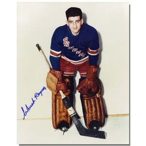 Chuck Rayner (deceased) Autographed New York Rangers 8x10 Photo