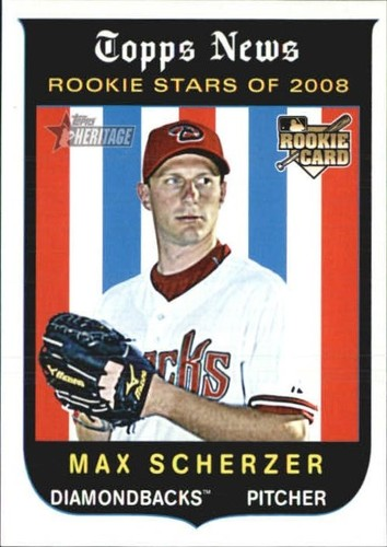 Photo of 2008 Topps Heritage #519 Max Scherzer RC